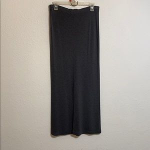 Women size (S) Casual Corner Long Gray Skirt
